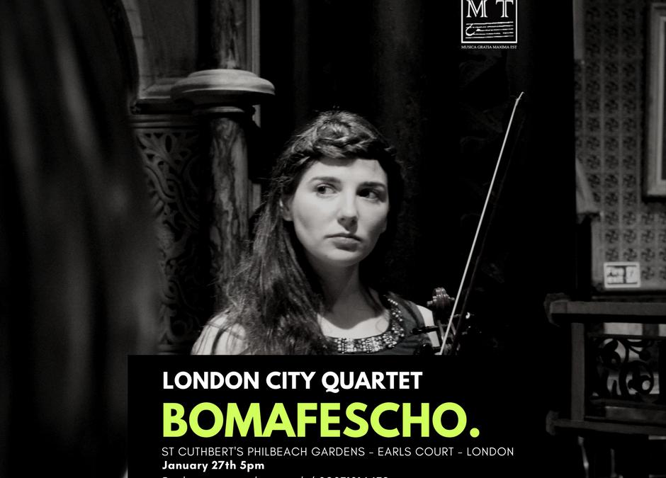 BOMAFESCHO 27.01.2018 5pm – St. Cuthbert's / London